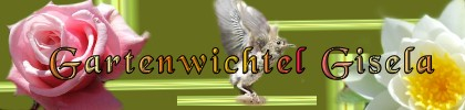 Gästebuch Banner - verlinkt mit http://www.gartenwichtel-gisela.de